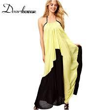 yellow and black colour block dress u2013 dress ideas