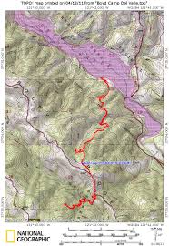 Yosemite Topo Map Backpacking Trip To Boyd Camp In Ohlone Wilderness With Photos And