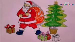 how to draw christmas how to draw santa claus for kids