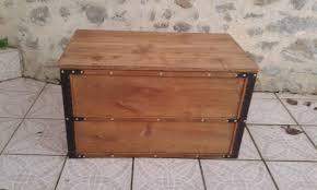 fabrication de coffre en bois o u0027 bois recyclé malle artisanale en chêne massif