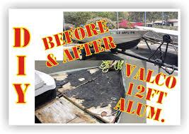 Aluminum Boat Floor Plans by Valco 12 Ft Aluminum Boat Quick Restoration W New Tohatsu 9 8hp