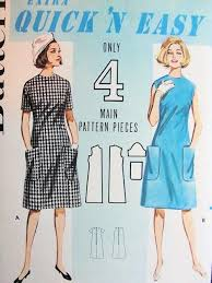 pattern a line shift dress 1960s cute quick n easy a line dress pattern butterick 3063 shift