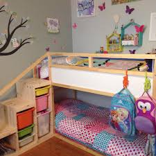 ikea kura bed with added steps and extra safety bar on top bunk