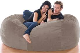 giant bean bag sofa glacier textured microfiber jaxx lounger
