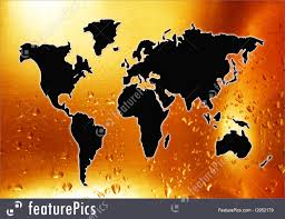 World Map Silhouette Illustration Of World Map Silhouette