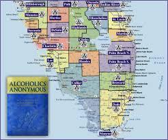 Map Of North Florida Counties Spbciaa Florida Aa Intergroup Links