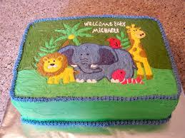 jungle theme baby shower sheet cakes zone romande decoration