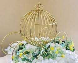carriage centerpiece gold cinderella carriage fairytale wedding centerpiece