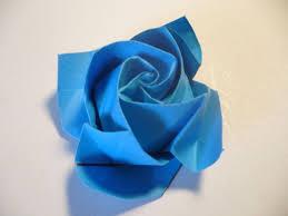cara membuat origami bunga yang indah cara membuat origami bunga mawar biru dengan mudah sebentar saja