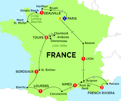 French Riviera Map Highlights Of France Trafalgar Can