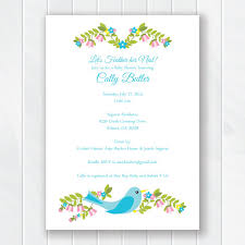 bridal shower invite feather nest baby shower invitation shower bridal