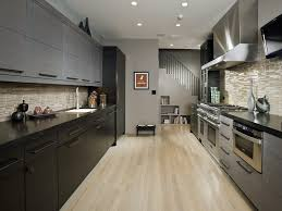 kitchen modern and spacious galley kitchen design featuring