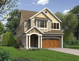 narrow house plans with garage craftsman style house plans cottage house plans
