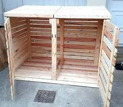 Free Wooden Garbage Bin Plans by Trash Cans Wooden Trash Can Cover Diy Wood Pallet Trash Bin