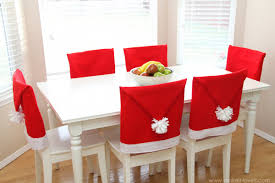 Covered Dining Room Chairs Red Seat Covers For Dining Chairs Velcromag
