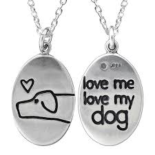 dog necklace silver images Silver love me love my dog necklace jpg