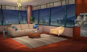 cartoon living room background int la apartment night episode pinterest anime scenery