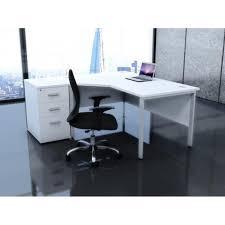 Corner Computer Workstation Desk Interior Design White Shiny Desk White Computer Workstation