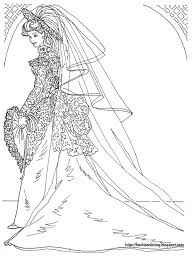 barbie coloring pages barbie wedding dress coloring pages cool