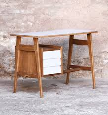 petit bureau vintage bureau vintage 3 tiroirs plateau formica blanc gentlemen designers