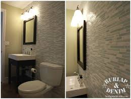 fair glass tile accent wall bathroom on home design planning with