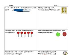 differentiated money word problems worksheets by ruthbentham