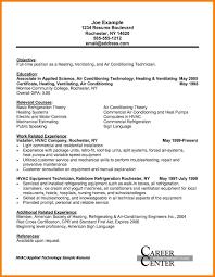 sle hvac resume hvac resume objective exles exles of resumes