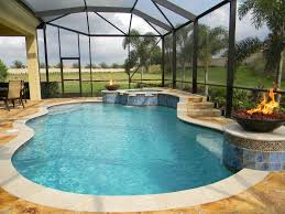 the indoor swimming pools and the unique design home decor and