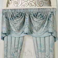 Blue Valances Window Treatments Regency Parisian Blue Empire Valance Window Treatment