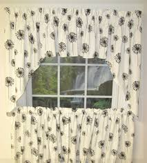 Kitchen Curtains Swags by Curtain Posey White Black Swag Valances Swags Window Toppers