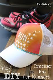 easy diy trucker hat for runners