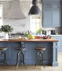 blue kitchen cabinets with wood countertops coastal blue kitchen cabinets wood countertop page 6