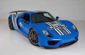 2013 porsche 918 spyder price barrett jackson auction offers one voodoo blue porsche 918 spyder
