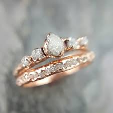 Gold Diamond Wedding Rings by Raw Diamond Rose Gold Engagement Ring Rough Gold By Byangeline