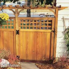 How To Build A Solid Wood Door How To Build A Fence For Privacy Family Handyman