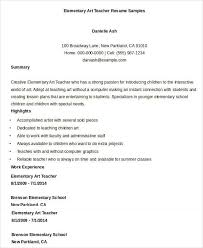 Resume Examples Teacher by Art Teacher Resume Sample Free