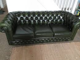 used chesterfield sofa green leather chesterfield sofa and arm chair in st leonards on