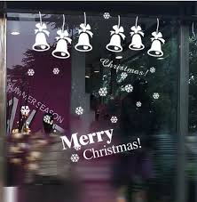 Christmas Decorations For Window Displays by Christmas Window Stickers Merry Christmas Bell Window Display