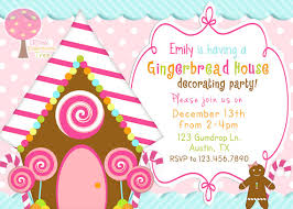 20 gingerbread house decorating party invitations glitter u0027n spice