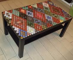 beer cap table top caps table top