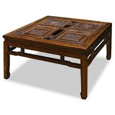 furniture luxury antique stained wood square coffee table design