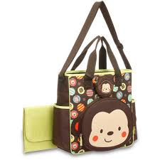 Monkey Rug For Nursery Baby Boom Tote Diaper Bag With Changing Pad Monkey Walmart Com