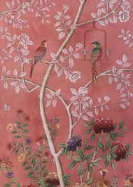 Hand Painted Wallpaper by Dessin Fournir Companies Beauport Wp1202 Chinoiserie