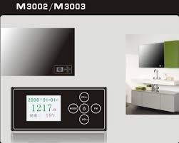 Bathroom Mirror With Clock Waterproof Touch Clock Display For Bathroom Mirror Id 5466040