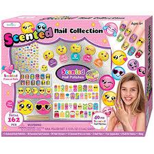 amazon com smitco llc kids nail polish set emoji nail art craft
