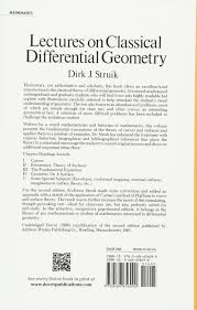 lectures on classical differential geometry second edition dover