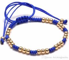 macrame bracelet with beads images 2018 beichong man macrame new bracelet men titanium steel beads jpg