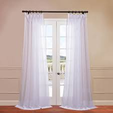 White Sheer Curtains Signature Layered White Sheer Curtains Drapes