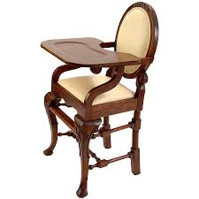 Dining Room In French Oval Highchair In French Walnut And Luxury Baby Cribs In Baby
