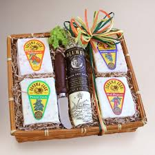 Cheese Gift Baskets Sonoma Jack Cheese Gift Basket Sampler World Market